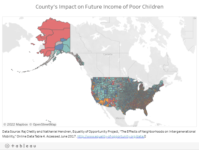 County's Impact on Future Income of Poor Children