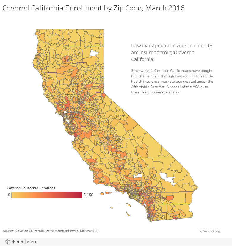 Covered California Enrollment by Zip Code