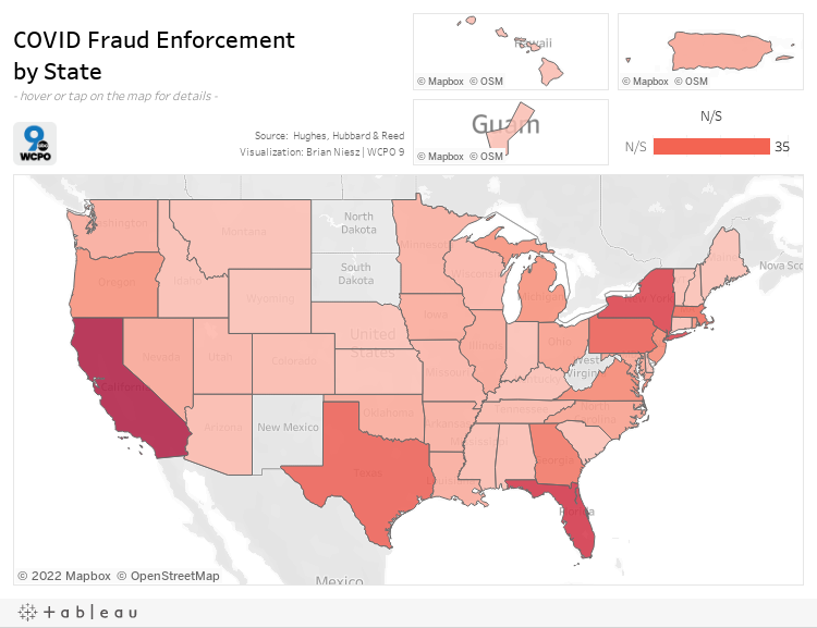 COVID Fraud Enforcementby State