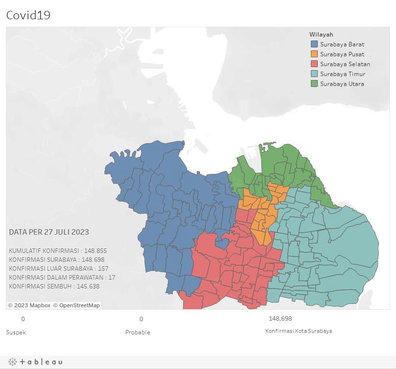 #update Peta Sebaran Covid-19 di Kota Surabaya | Lengkap ...
