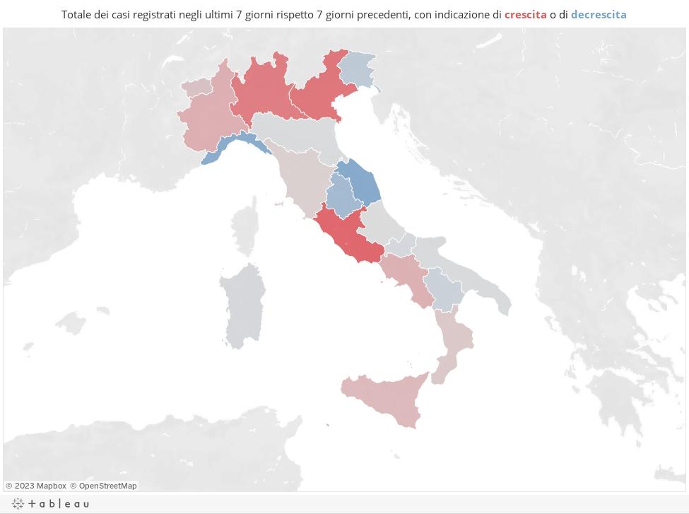 Cartina Italiana Dettagliata.Coronavirus Mappa E Dati Del Contagio Covid 19 Corriere It