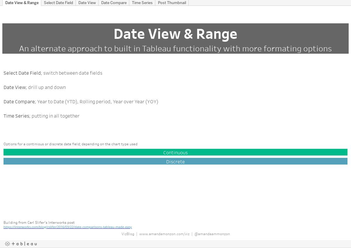 Workbook: Date View & Range