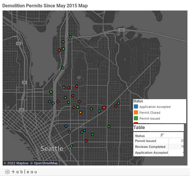 Demolition Permits Since May 2015