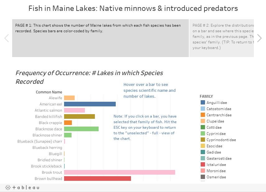 Fish in Maine Lakes: Native minnows & introduced predators