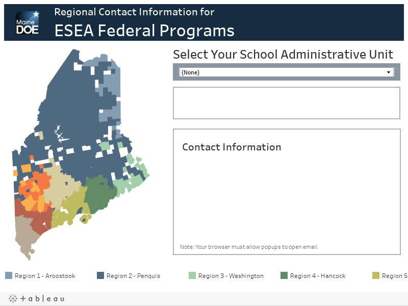 ESEA Federal Programs Contact Information Map