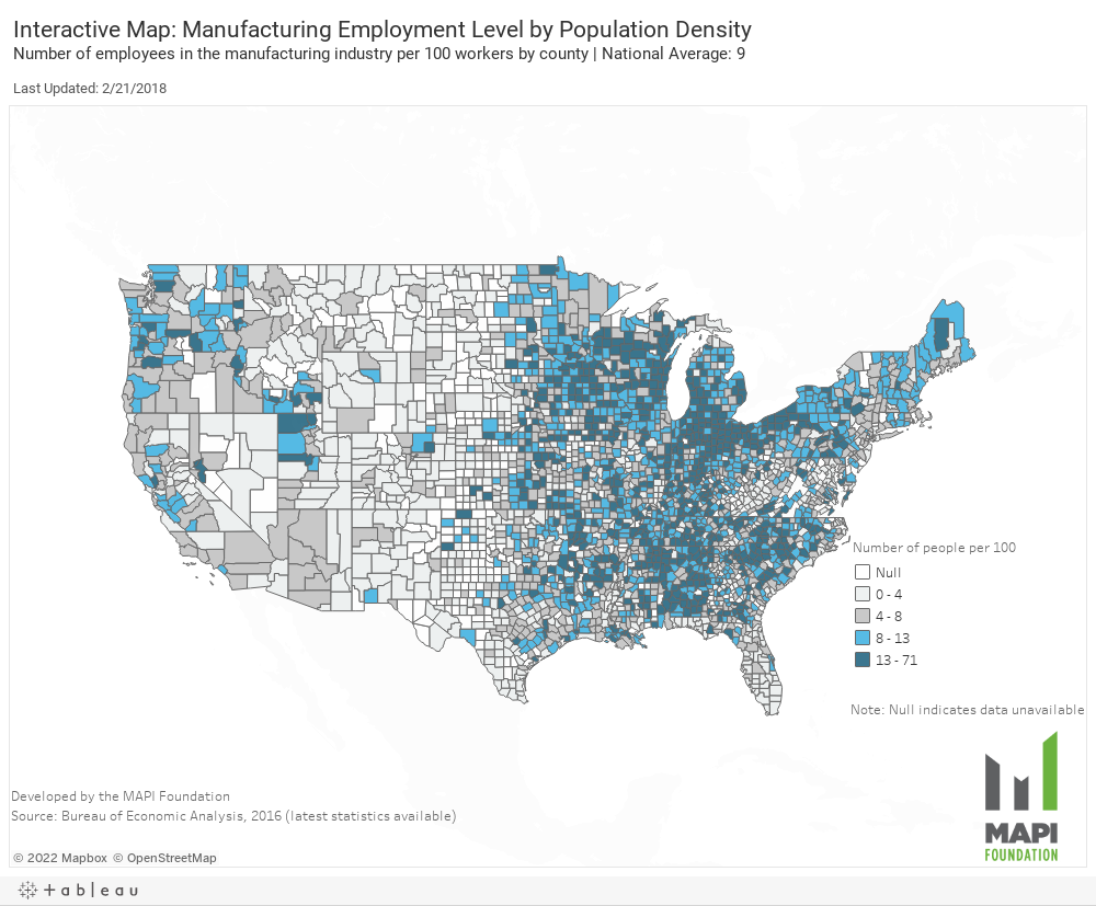 Manufacturing Employment 2015