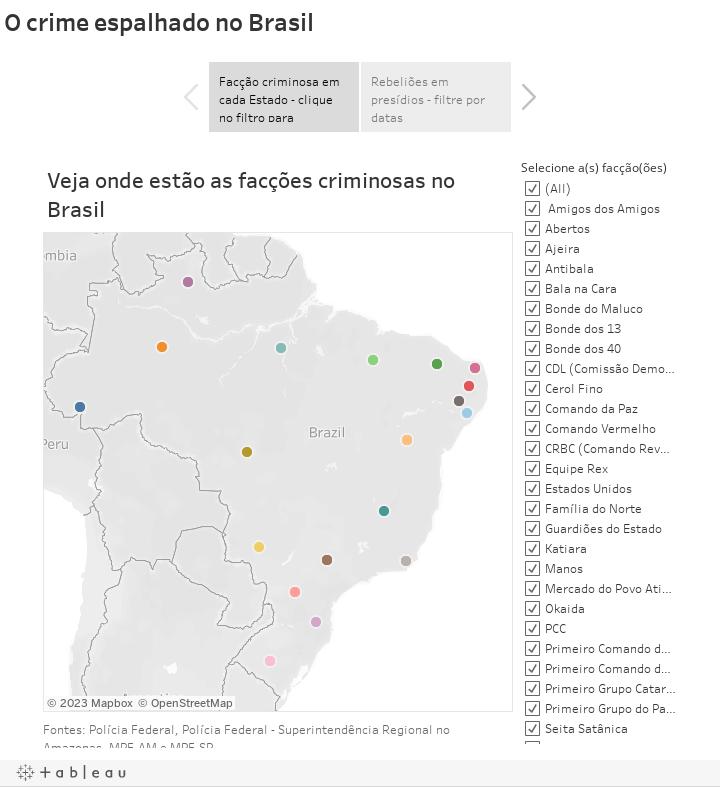 O crime espalhado no Brasil