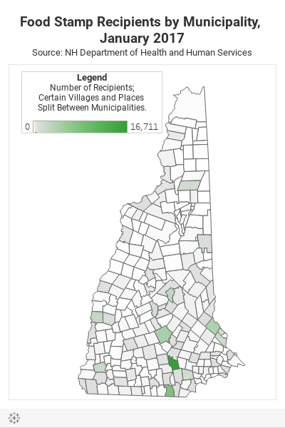 Food Stamp Count Map