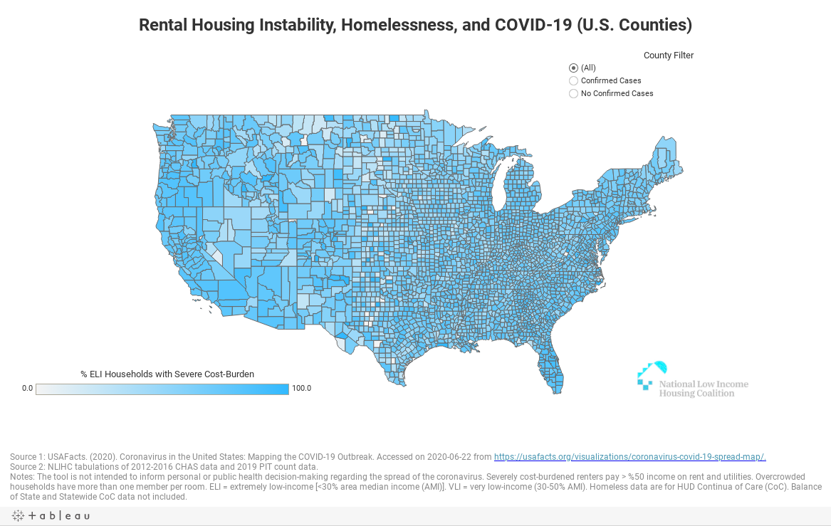Rental Housing Instability, Homelessness, and COVID-19 (U.S. Counties)