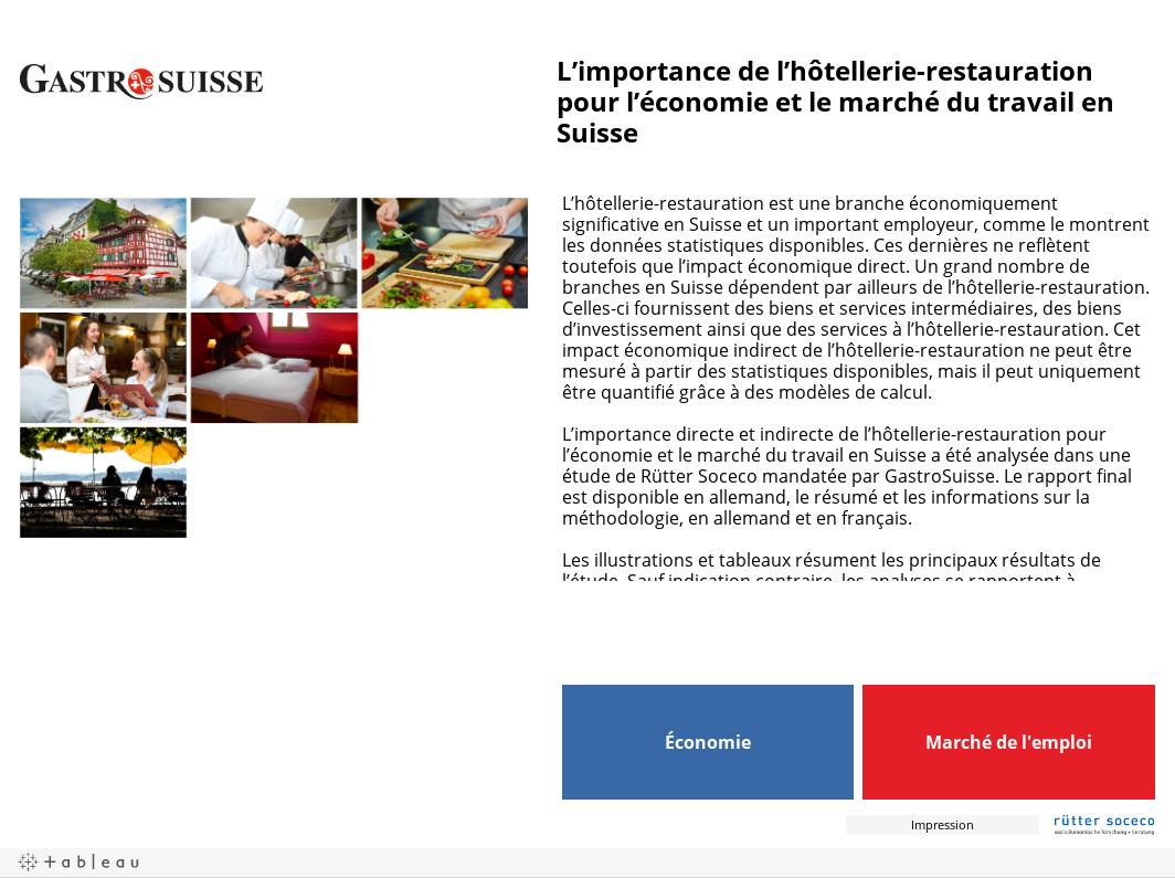 L'importance de l'hôtellerie-restauration pour l'économie et le marché du travail en Suisse
