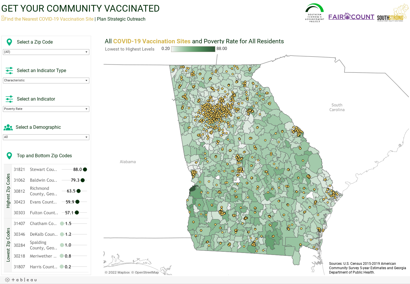 GET YOUR COMMUNITY VACCINATED ●Find the Nearest COVID-19 Vaccination Site | Plan Strategic Outreach