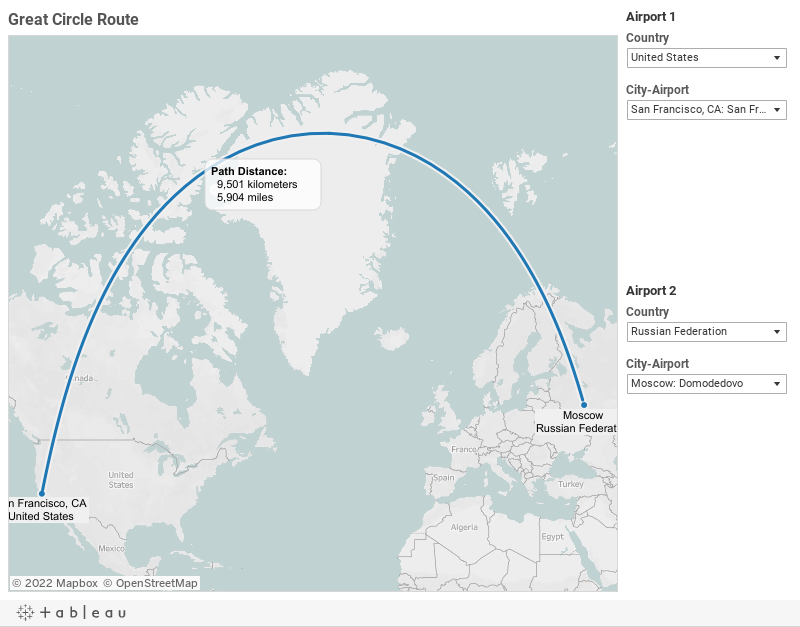 Great Circle Routes for 50 Busiest Airports |Tableau Community Forums