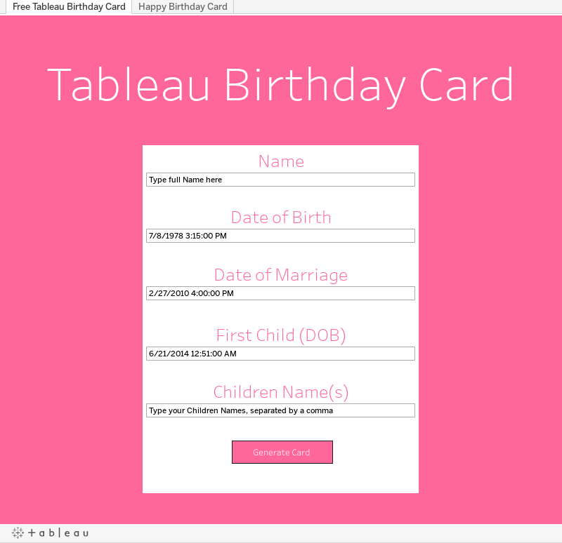 Workbook Happy Birthday Card