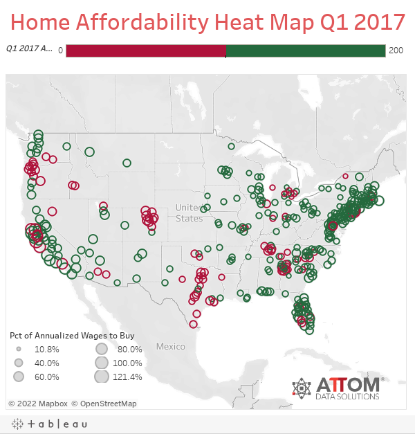 Home Affordability Heat Map Q1 2017