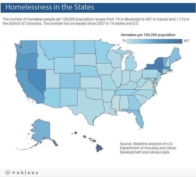 Homelessness In America In One Map Vox - Chronic homelessness across the us map