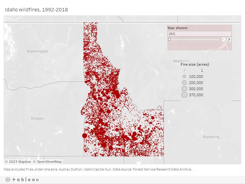 Idaho wildfires map