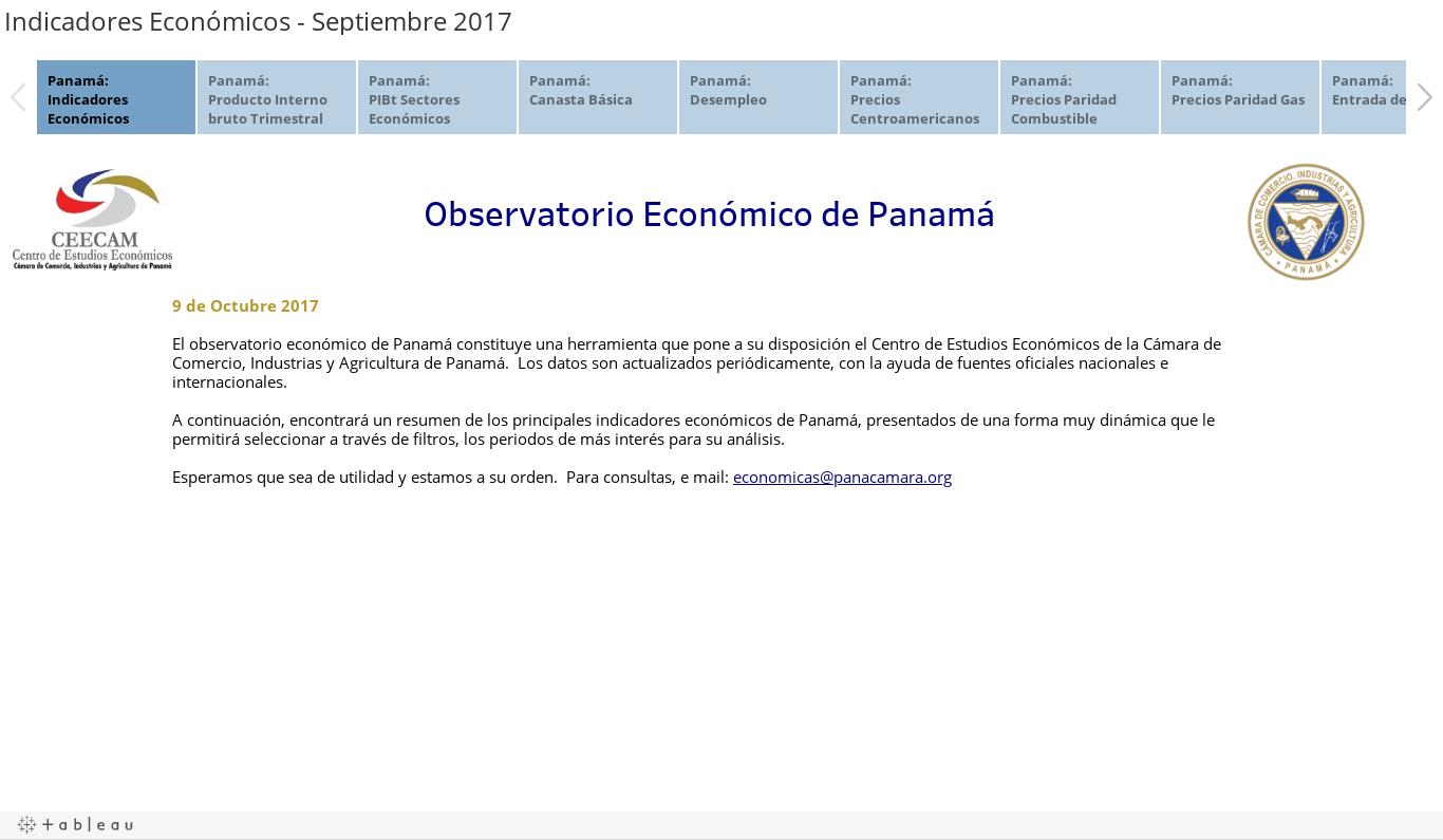 Indicadores Económicos - Septiembre 2017
