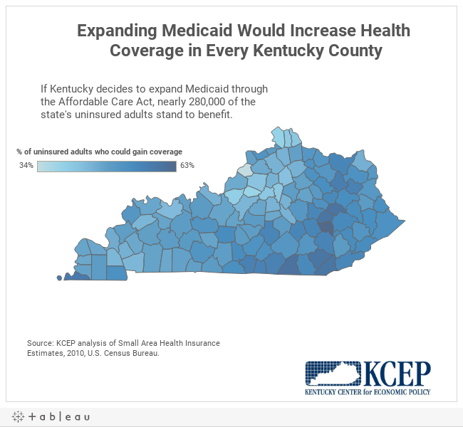 Expanding Medicaid Would Increase Health Coverage in Every Kentucky County