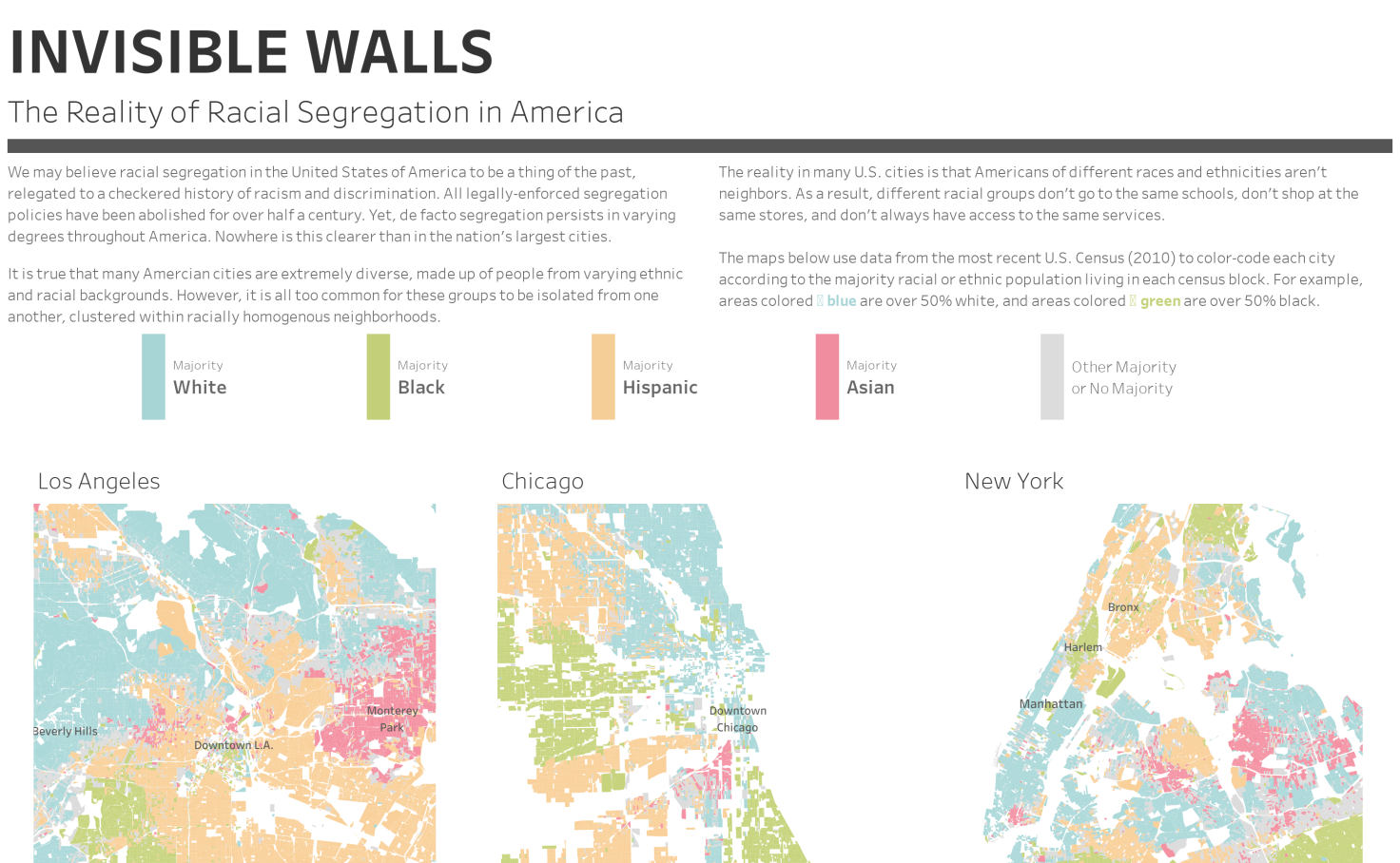 Map Of Americas Racial Segregation.Invisible Walls The Reality Of Racial Segregation In America Marc