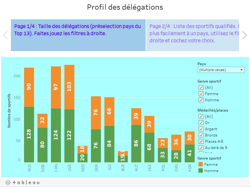 Profil des délégations