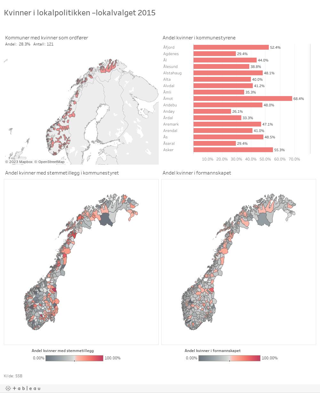 Kvinner i lokalpolitikken –lokalvalget 2015