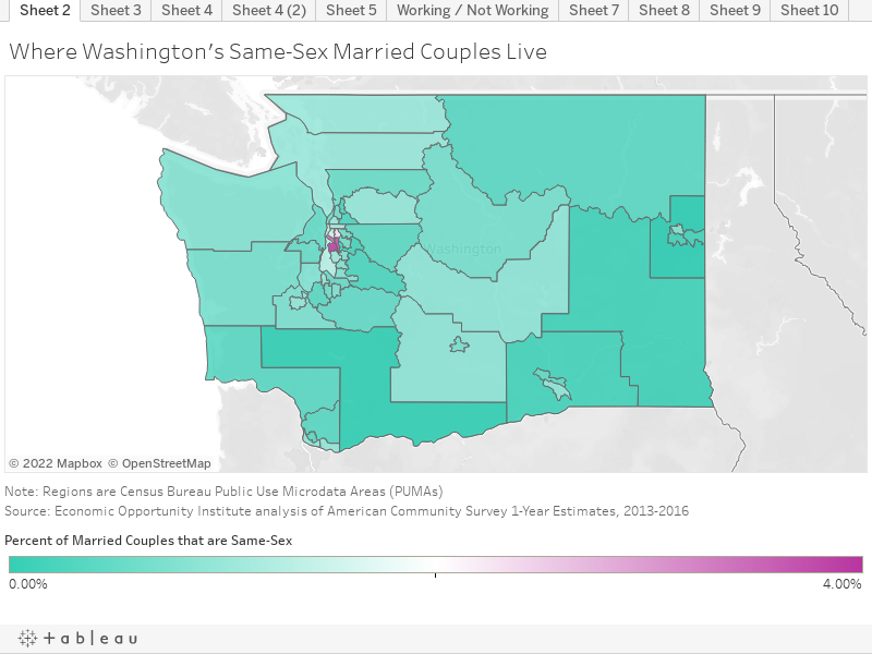Where Washington's Same-Sex Married Couples Live