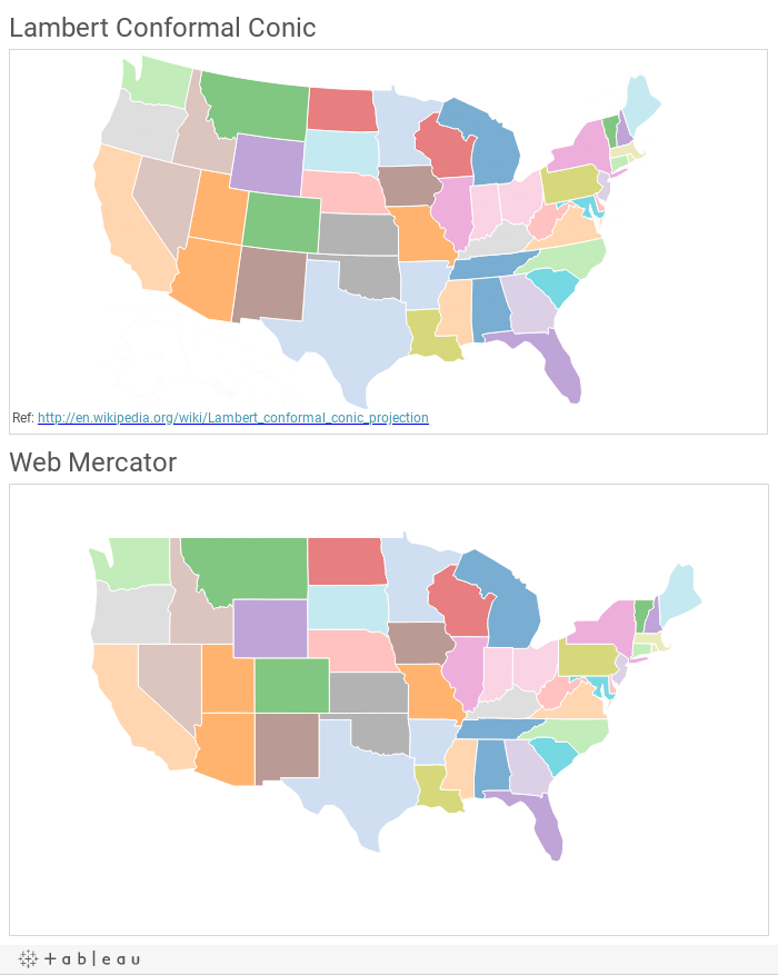 Fun With Alternate Map Projections Tableau Public JavaScript Maps - Adding text to us map