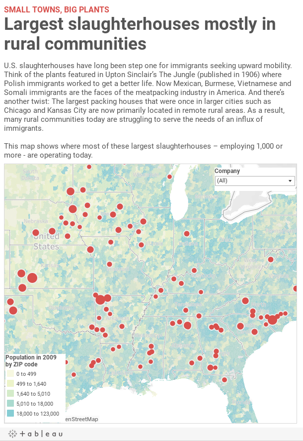 Slaughterhouses Across The Country A Collaborative Map Wisconsinwatch Org