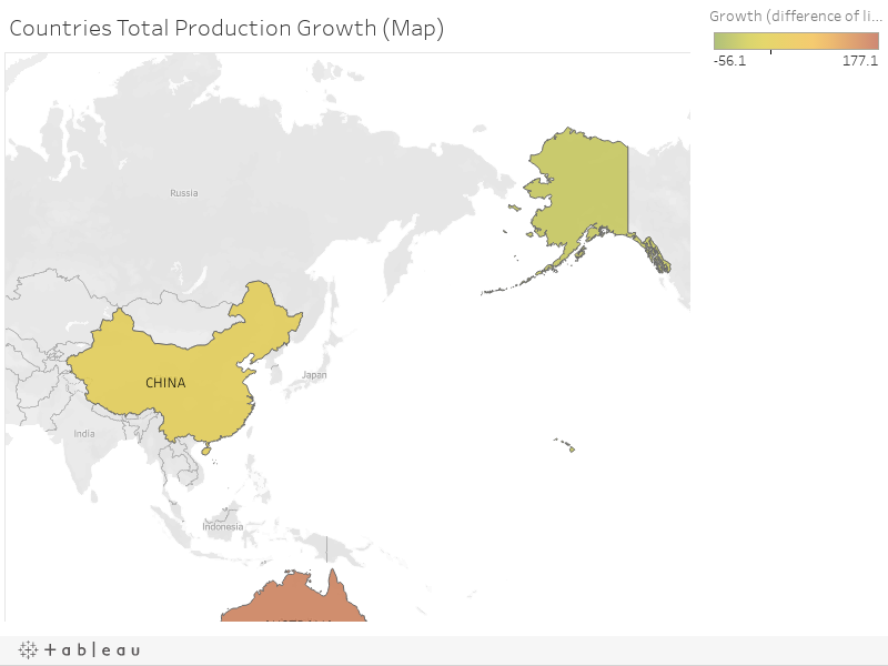 Countries Total Production Growth (Map)