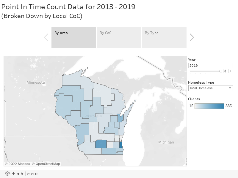 Point In Time Count Data for 2013 - 2016(Broken Down by Local CoC)