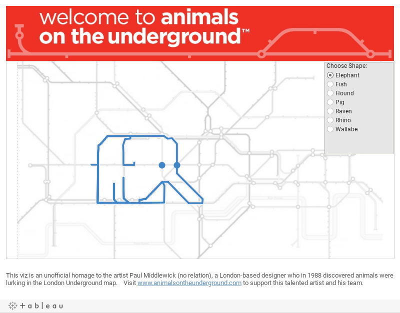 Animals on the Underground