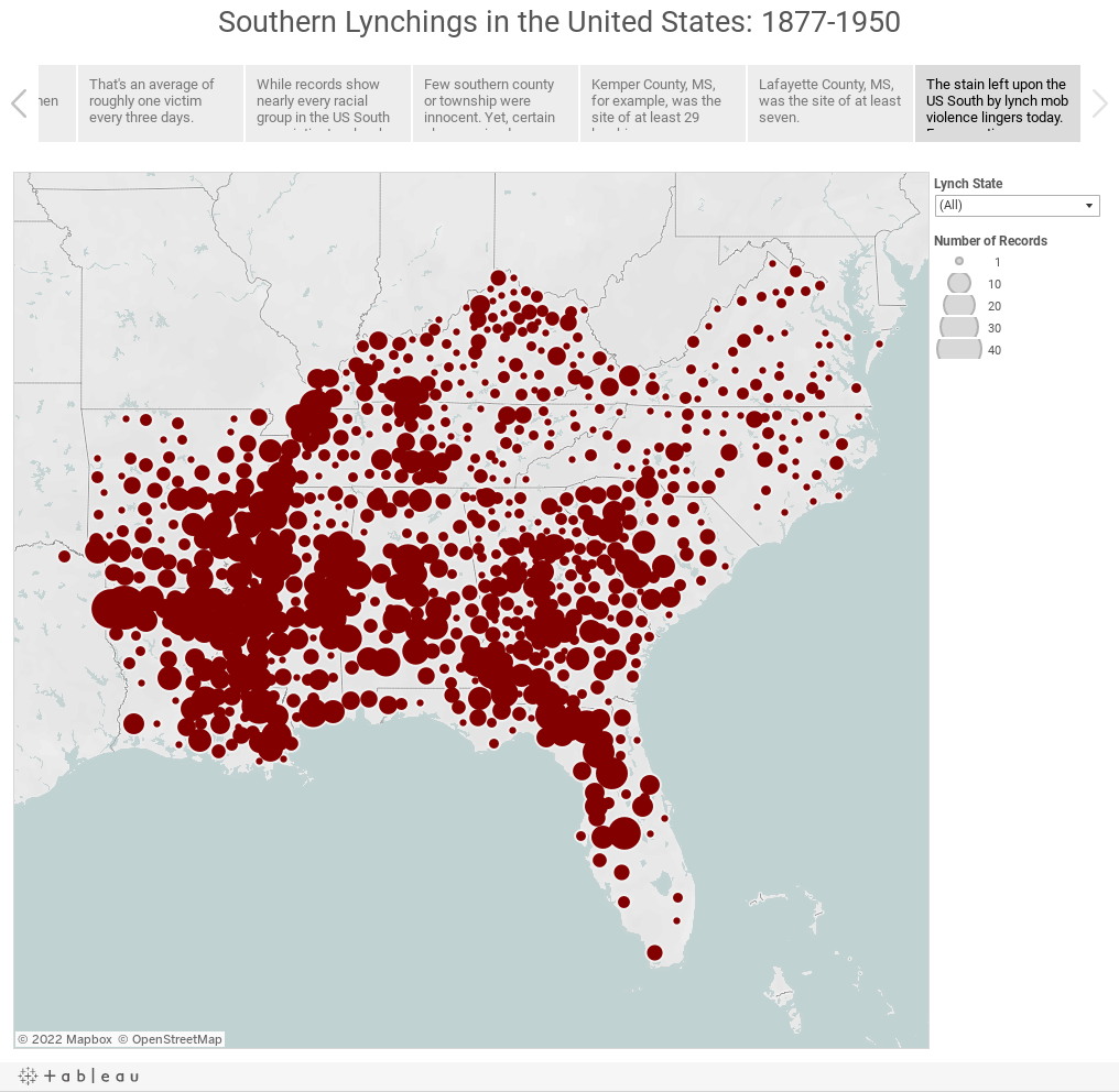 Southern Lynchings in the United States: 1877-1950