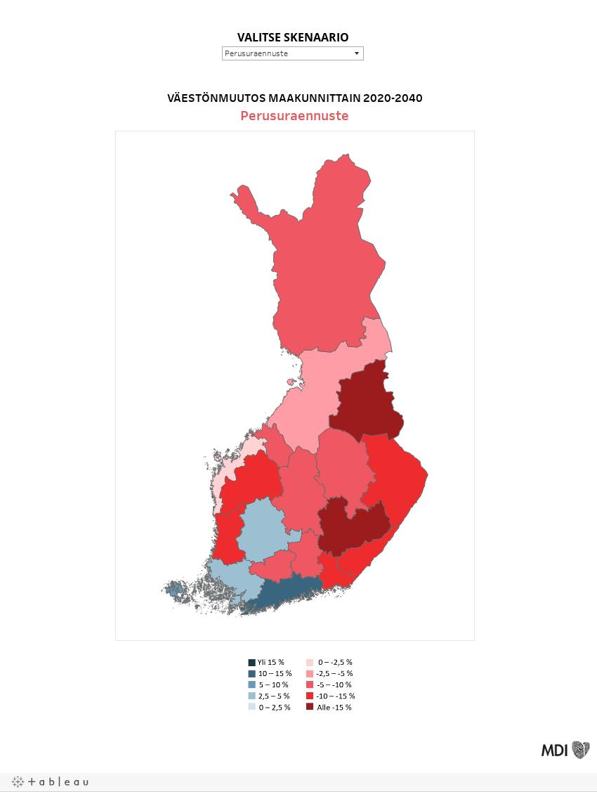 Väestöennuste 2021_maakunnat