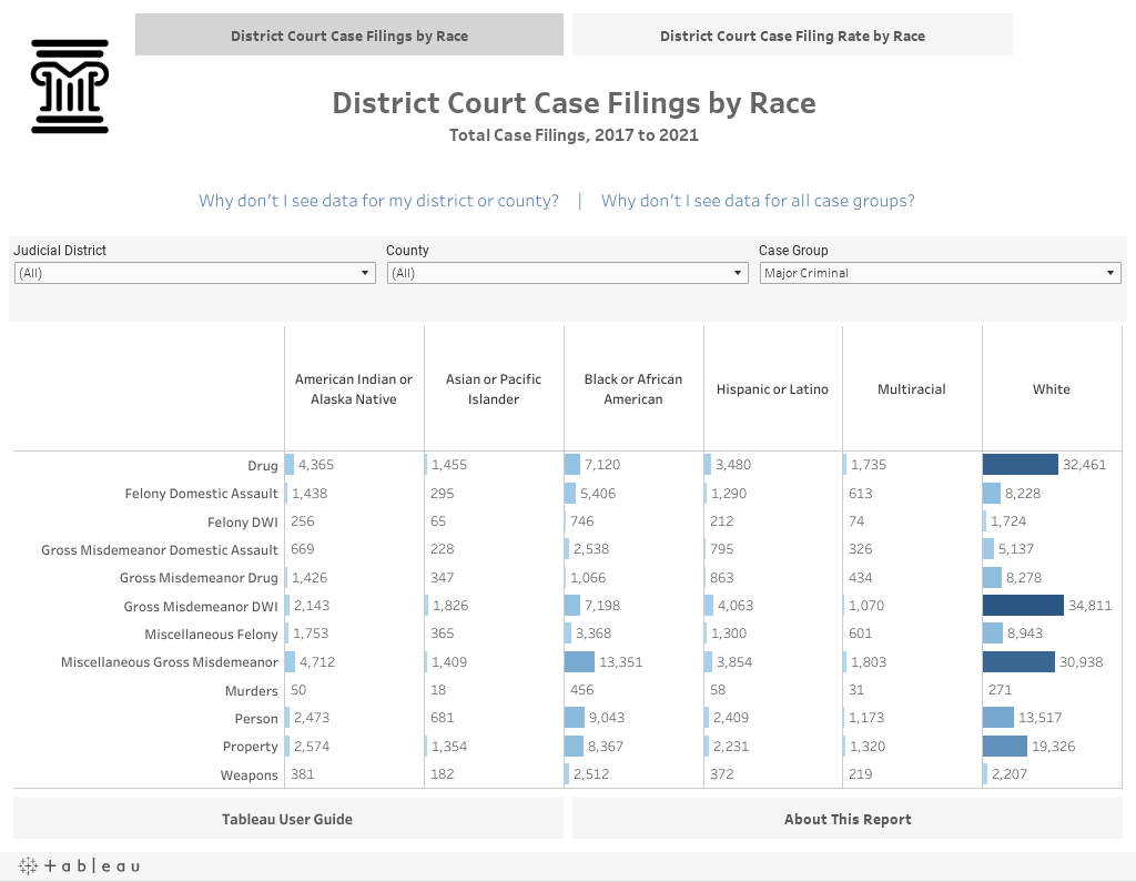 District Court Filings by Race