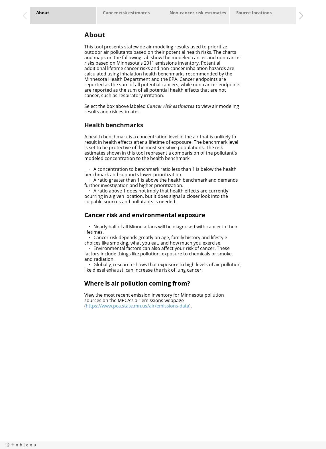 MNRISKS 2011 :: Modeled air pollution health risks