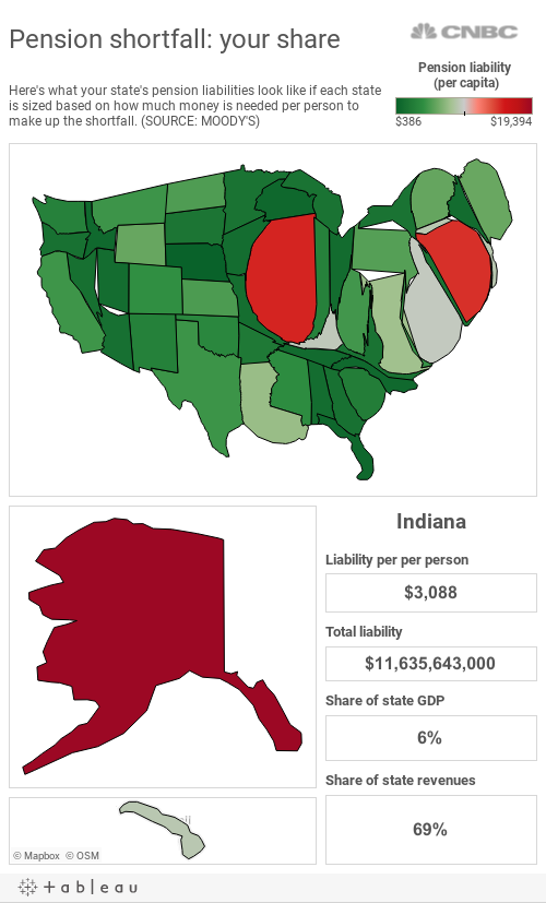 Pension Cartogram