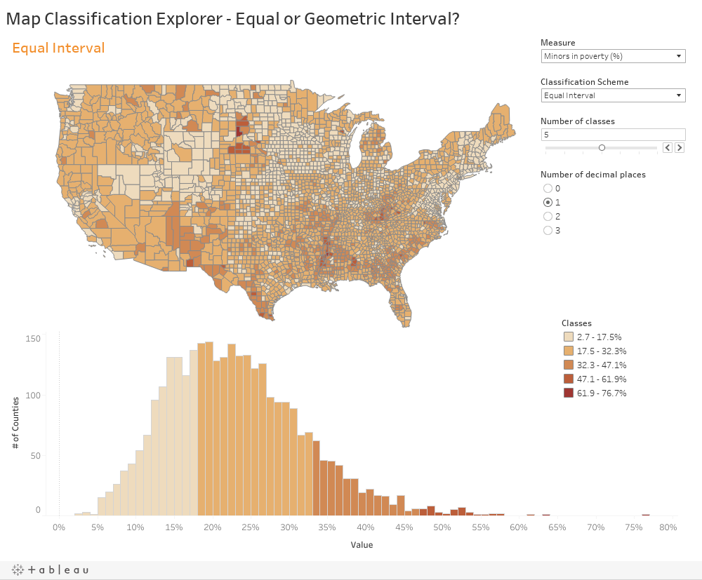 Setting map classification with parameters | Tableau Picasso