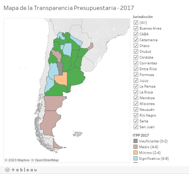 Mapa de la Transparencia Presupuestaria - 2017