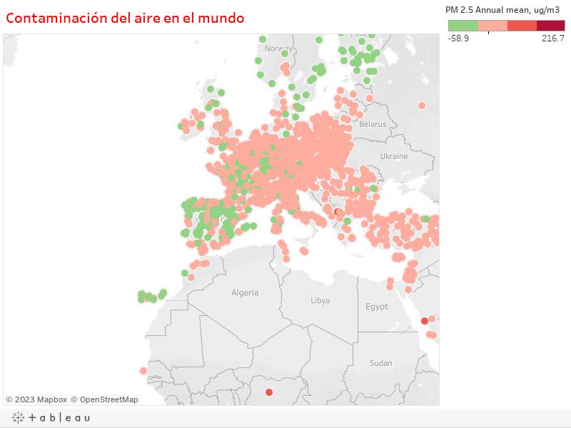 Contaminación del aire en el mundo