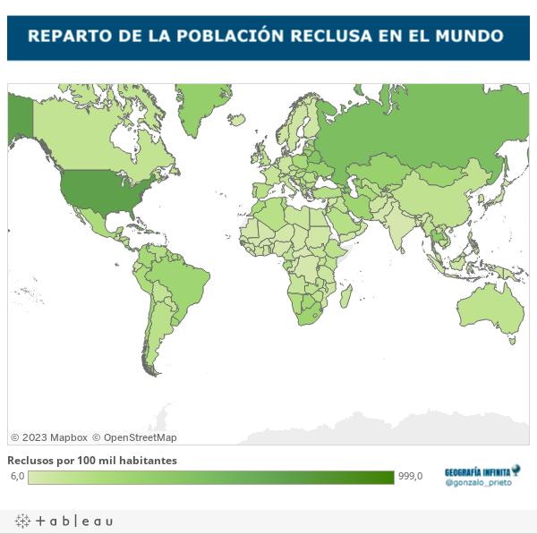 La población reclusa en el mundo