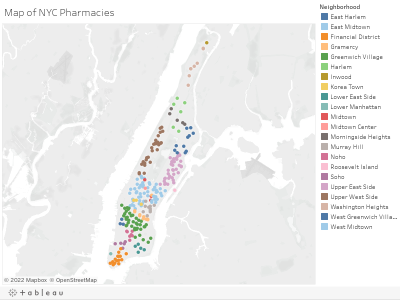 Map of NYC Pharmacies