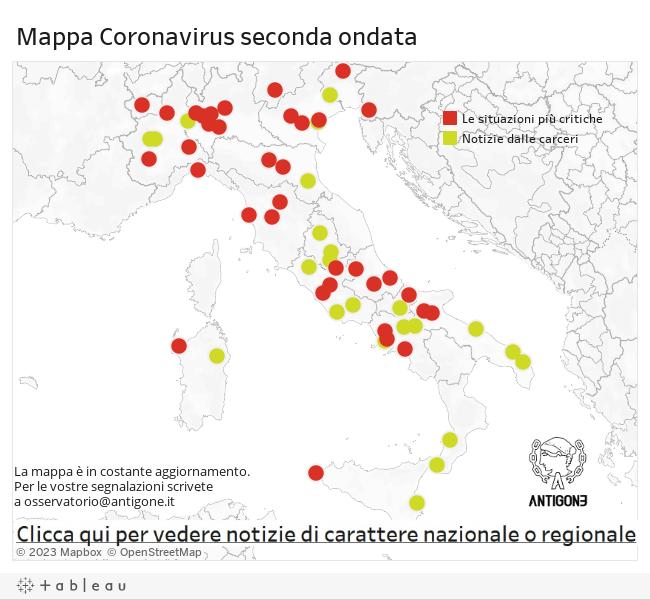 Coronavirus. La nostra mappatura su cosa sta accadendo nelle carceri durante la seconda ondata