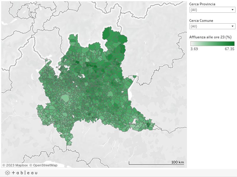 23 ottobre 2017 - Referendum per l'autonomia - L'affluenza in Lombardia