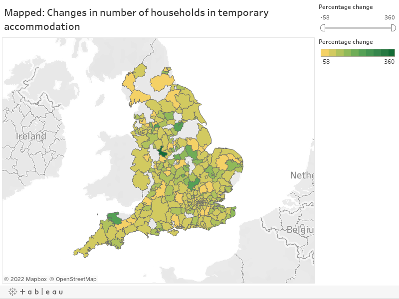Mapped: Changes in number of households in temporary accommodation