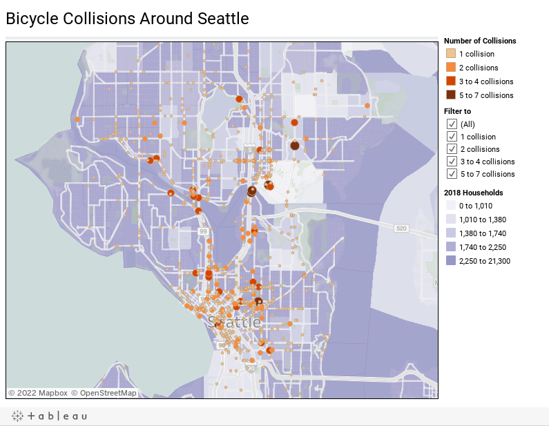 Bicycle Collisions Around Seattle