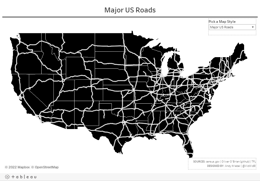 Major US Roads