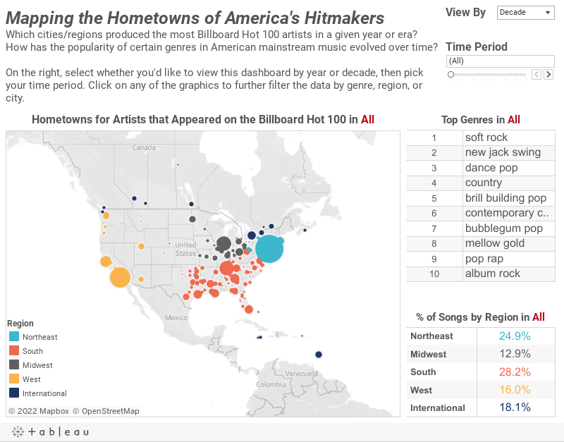 Mapping the Hometowns of America's Most Popular Musical | The DataFace