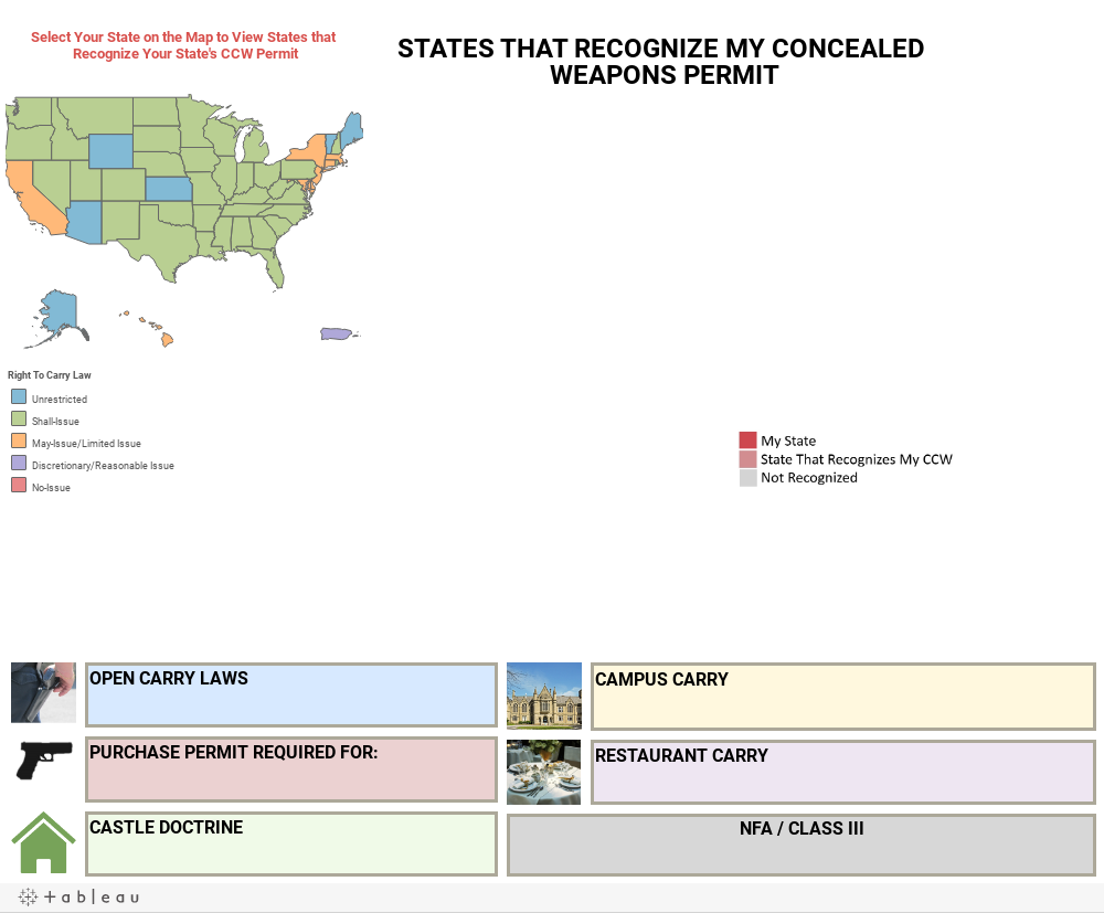 Workbook Embeddable Concealed Carry Reciprocity And State Gun Laws Map