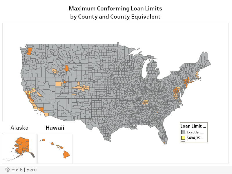 Conforming Loan Limits Map for 2019: All U.S. Counties