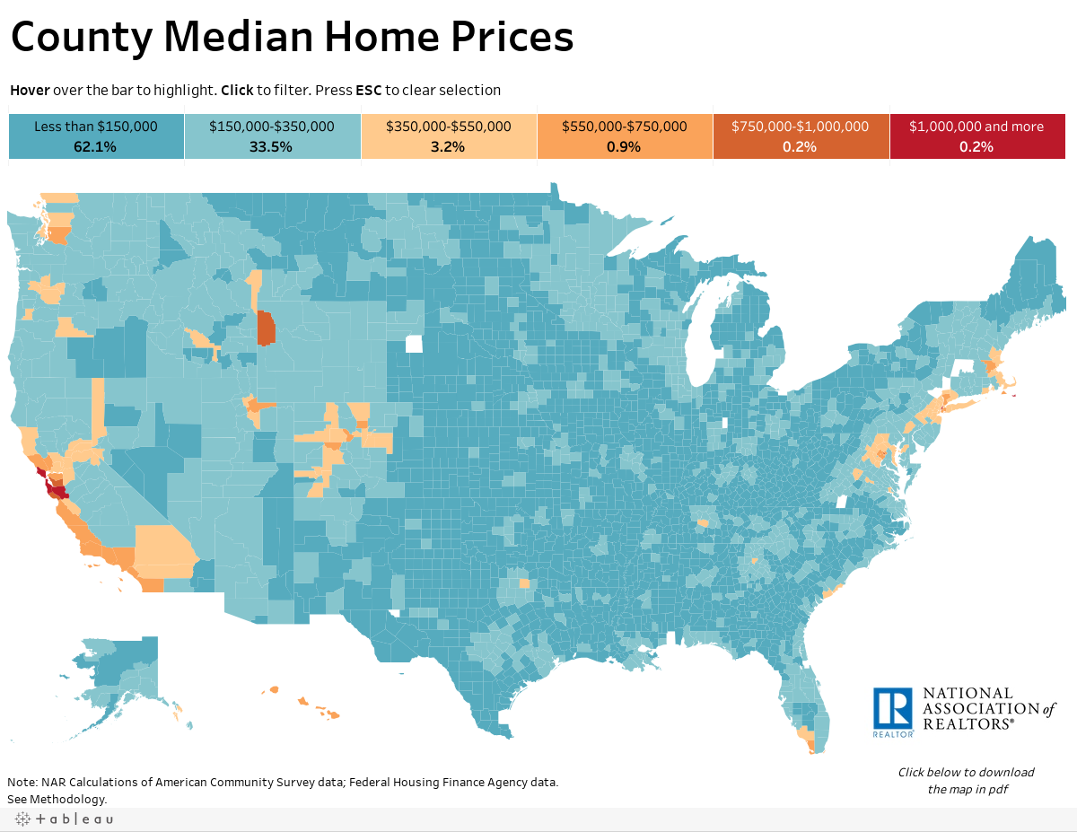 County Median Home Prices And Monthly Mortgage Payment Www